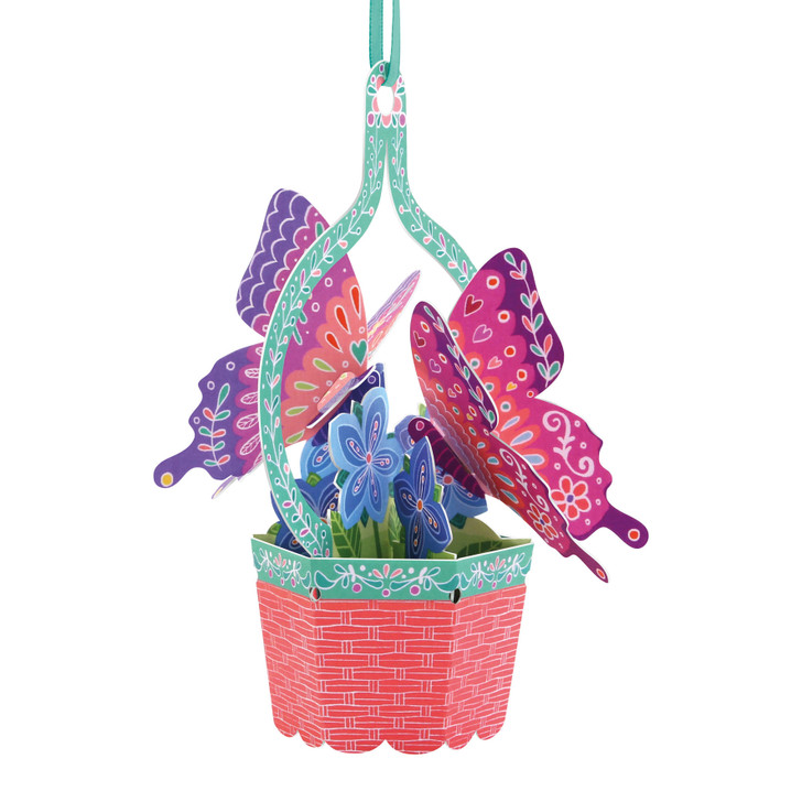 Chandeliers Cards - Butterfly Basket - Violets