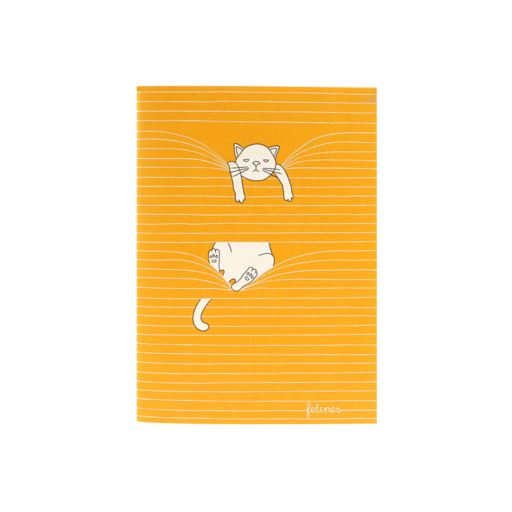 felines - Small Stitched Notebook - Mixed Felines