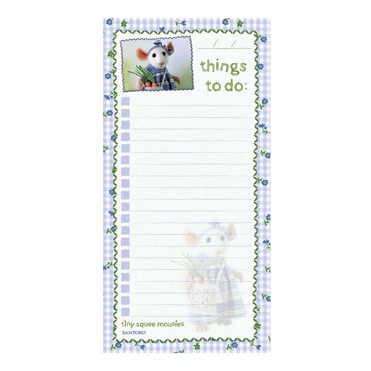 Tiny Squee Mousies - Magnetic List Pad - If Friends Were Carrots, I'd Pick You!
