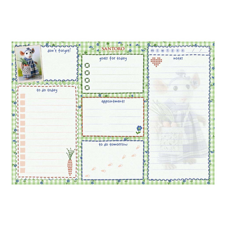 Tiny Squee Mousies - A5 Daily Planner - If Friends Were Carrots, I'd Pick You!