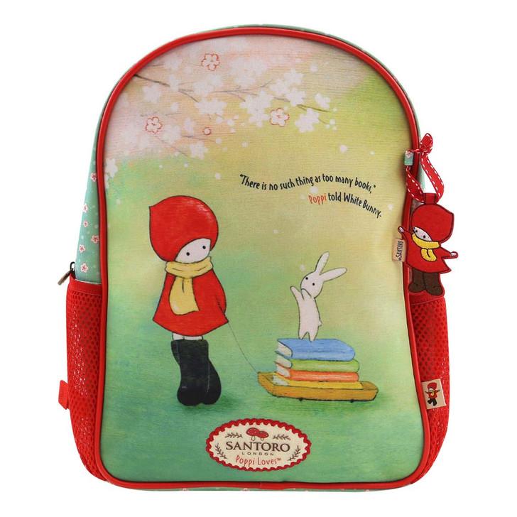 Poppi Loves - Zipped Backpack - Librarian