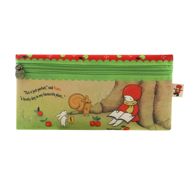 Poppi Loves - Flat Zip Pencil Case - Reading Out Loud