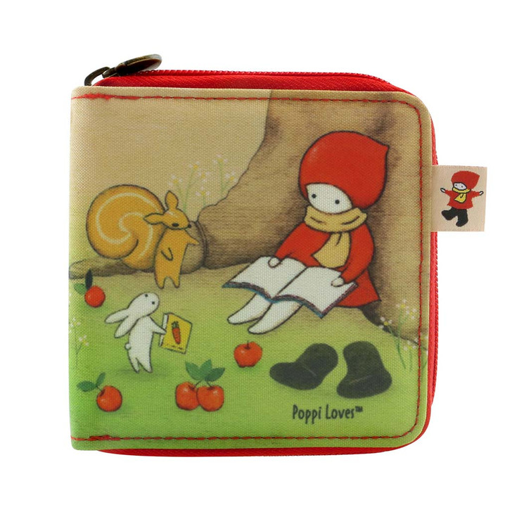 Poppi Loves - Zipped Wallet - Reading Out Loud