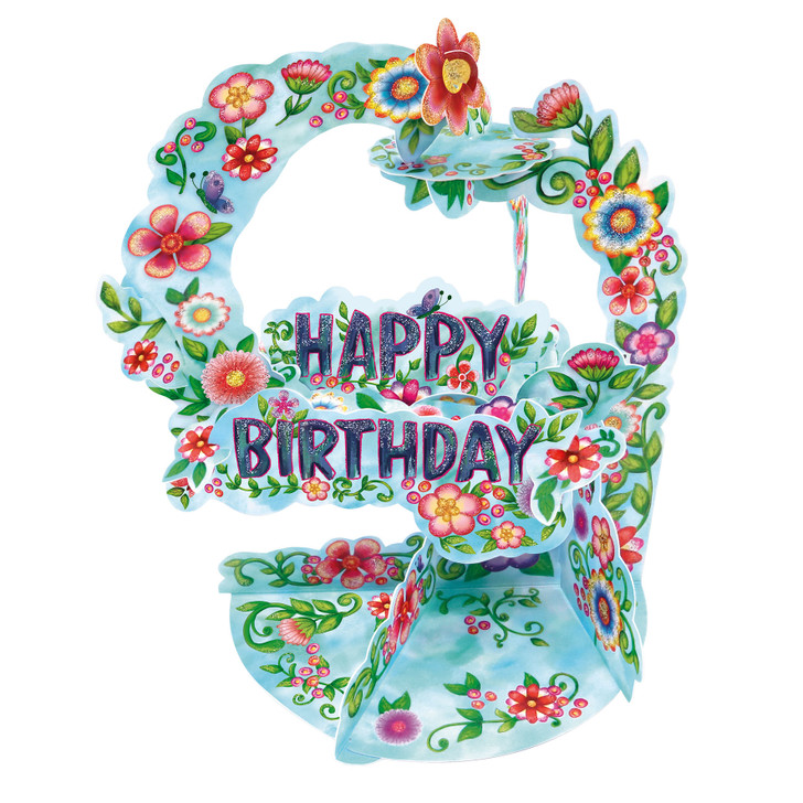 Pendulum Cards - Happy Birthday - Floral