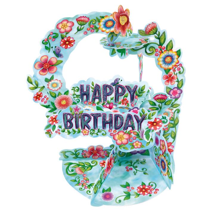 Pendulum Cards - Happy Birthday - Floral
