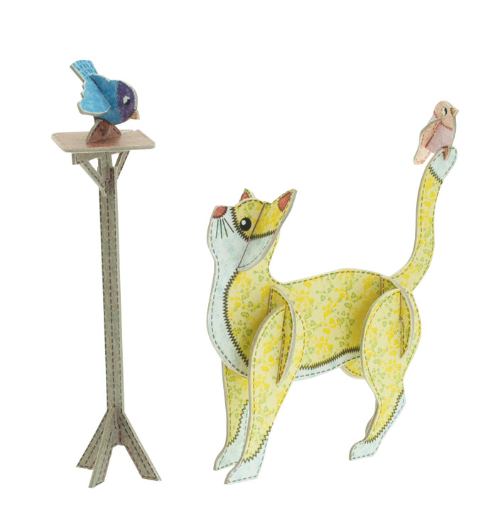 Patchpops - Cat And Bird Table