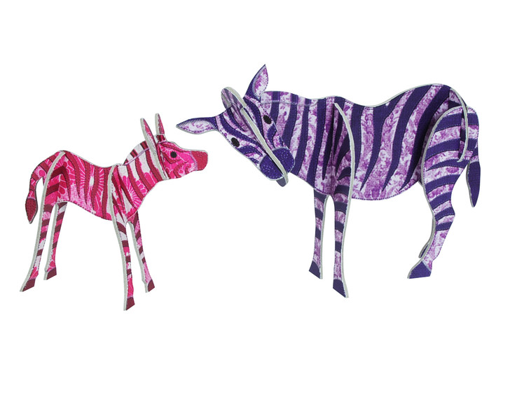 Patchpops - Zebra & Baby