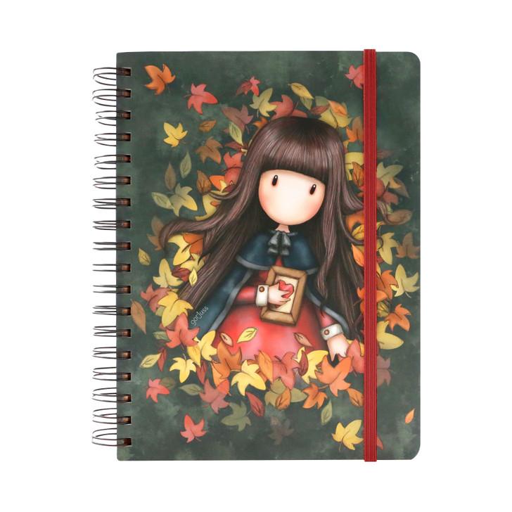 Gorjuss - Large Wiro-Bound Journal - Autumn Leaves