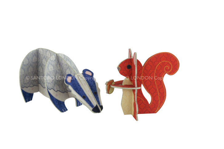 Patchpops - Badger & Squirrel
