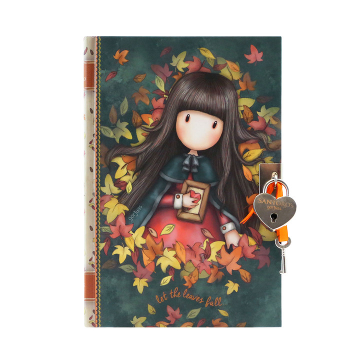 Gorjuss - Lockable Journal With Heart Shaped Lock - Autumn Leaves
