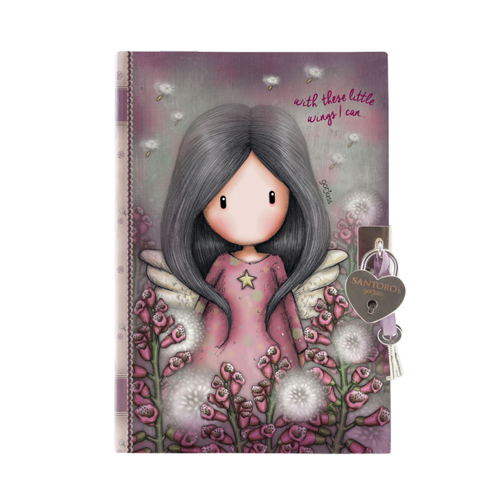 Gorjuss - Lockable Journal With Heart Shaped Lock - Little Wings