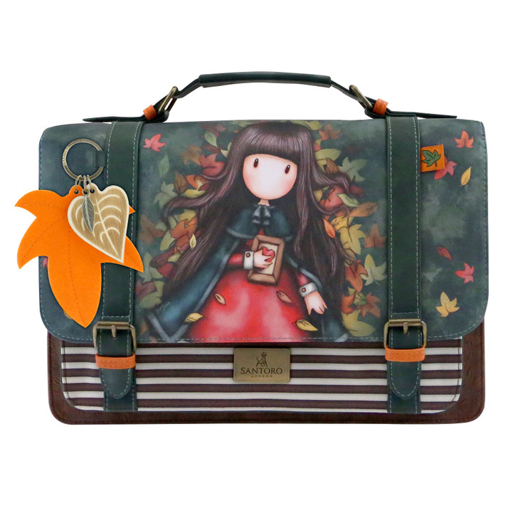 Gorjuss - Large Satchel - Autumn Leaves