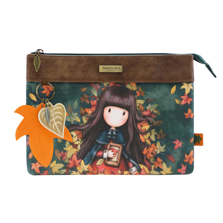 Gorjuss - Double Pouch Cross Body Bag - Autumn Leaves