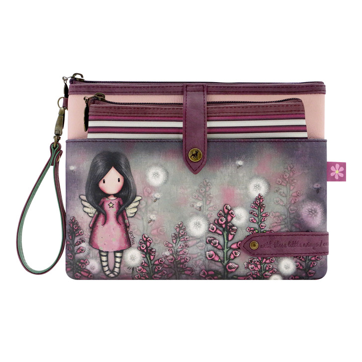 Gorjuss - Double Pouch Accessory Case - Little Wings