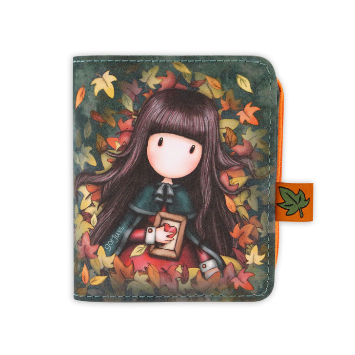 Gorjuss - Wallet With Detachable Purse - Autumn Leaves