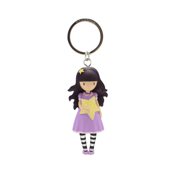 Gorjuss Sparkle & Bloom - Moulded Key Ring - Catch A Falling Star