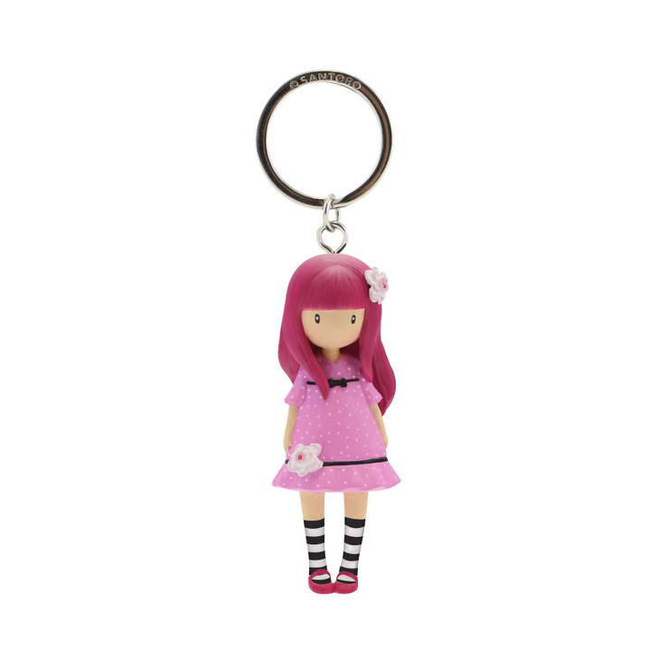 Gorjuss Sparkle & Bloom - Moulded Key Ring - Cherry Blossom