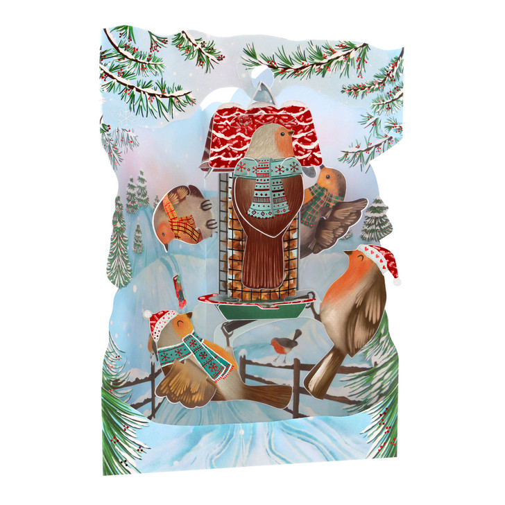 3D Pop-Up Christmas Card – Christmas Toy Shop Swing Card – Luxury Holiday Card for Family, Kids