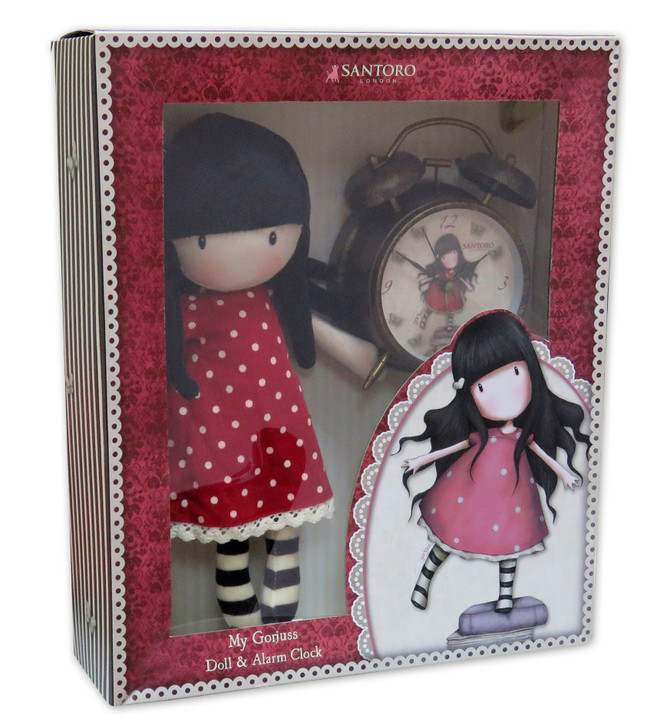 Gorjuss - Doll & Alarm Clock Set - New Heights