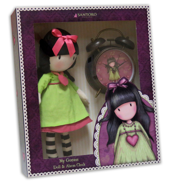 Gorjuss - Doll & Alarm Clock Set - Heartfelt