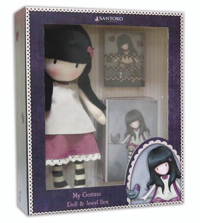 Gorjuss - Jewellery Box, Doll & Hair Accessories Set - My Secret Place