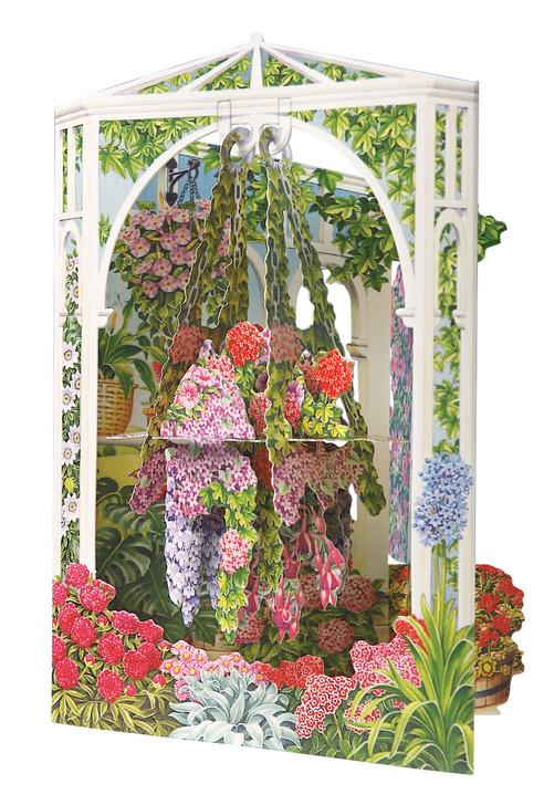 Swing Cards - Hanging Flower Basket