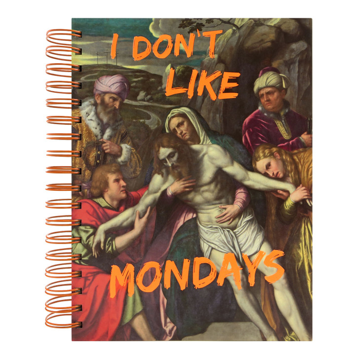 Masterpieces - Large Wirobound Notebook - I Don't Like Mondays