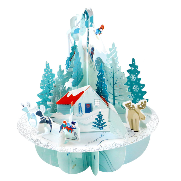 3D Pop-Up Christmas Card – Winter Wonderland Pirouettes Card – Luxury Holiday Card for Family, Kids, Someone Special