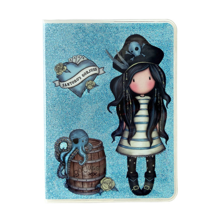 Gorjuss - A6 Glitter Notebook with PVC Cover  - Black Pearl:13