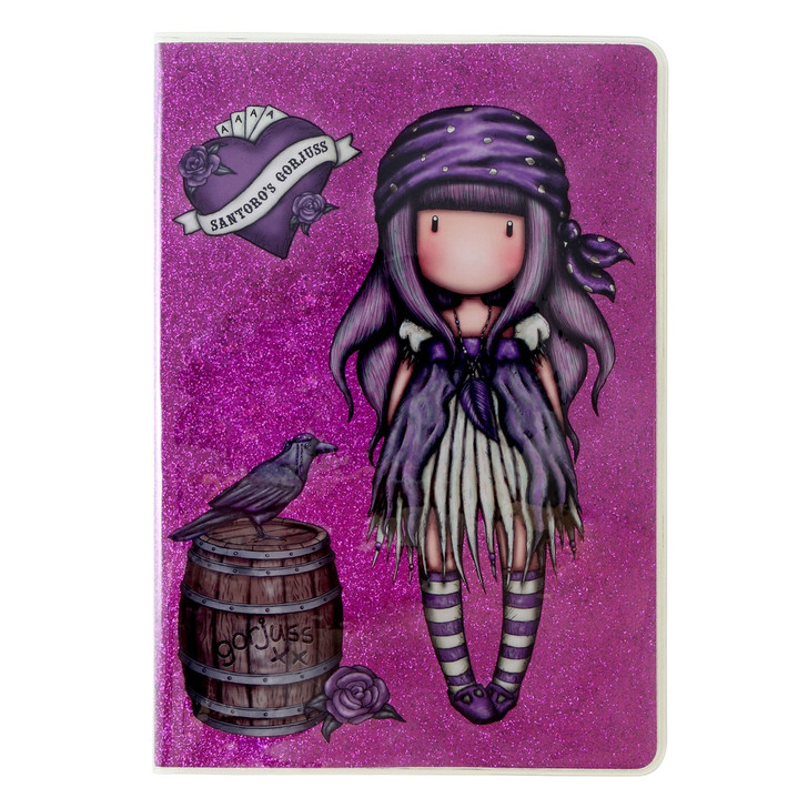 Gorjuss - A6 Glitter Notebook with PVC Cover  - Sea Nixie:19