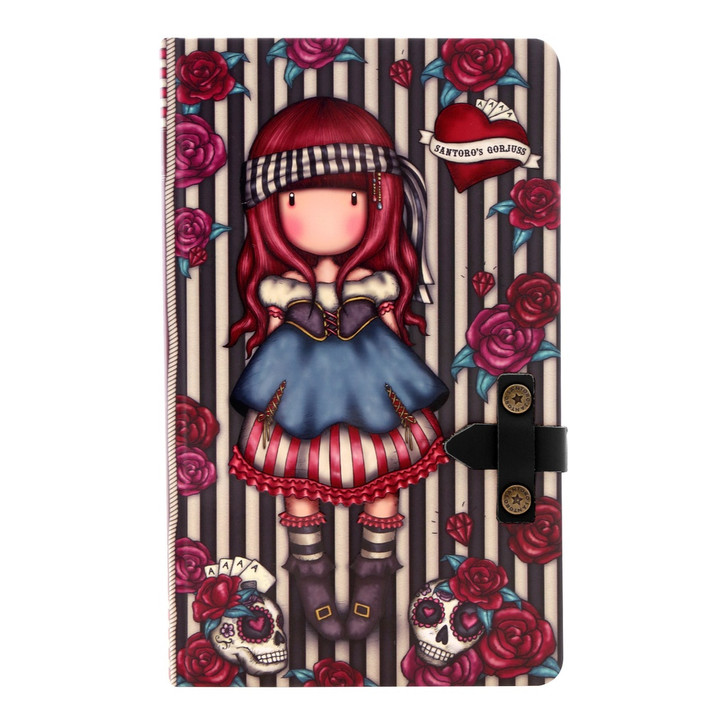 Gorjuss - Large Journal with PU Strap  - Mary Rose:165