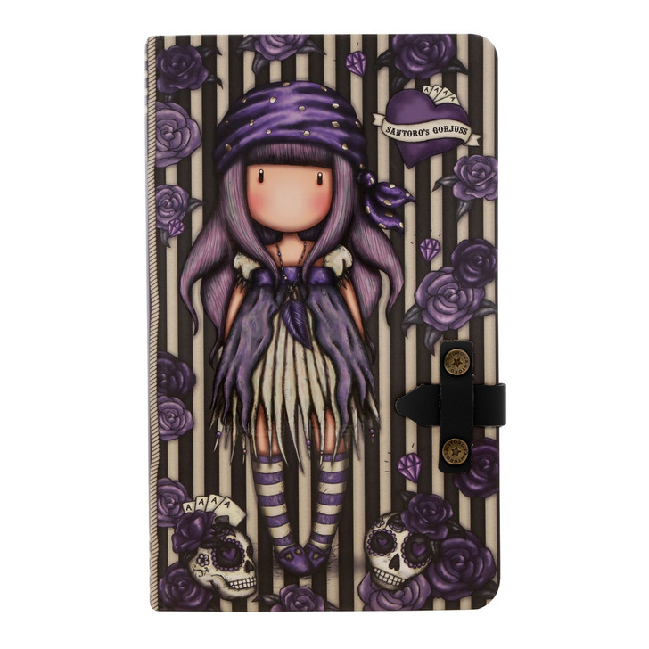 Gorjuss - Large Journal with PU Strap  - Sea Nixie:161