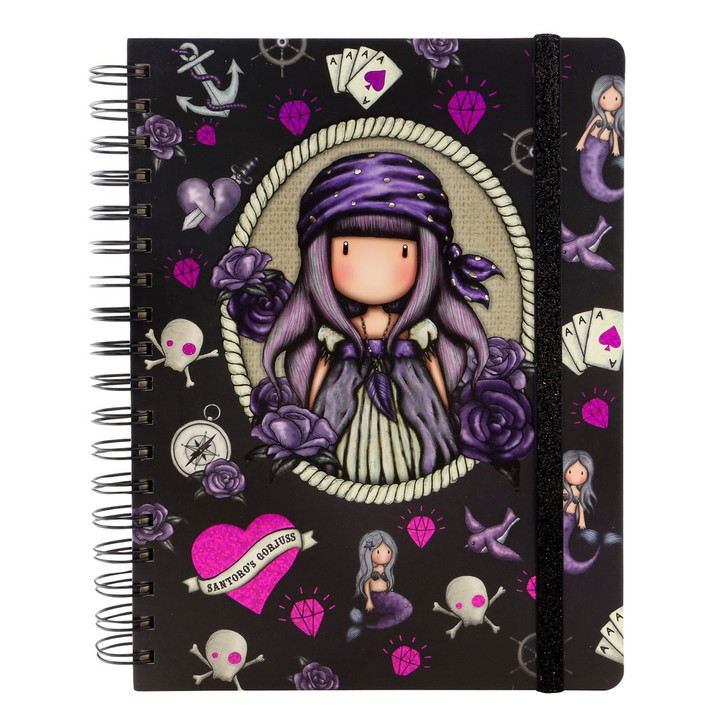 Gorjuss - Large Wirobound Journal - Sea Nixie:173