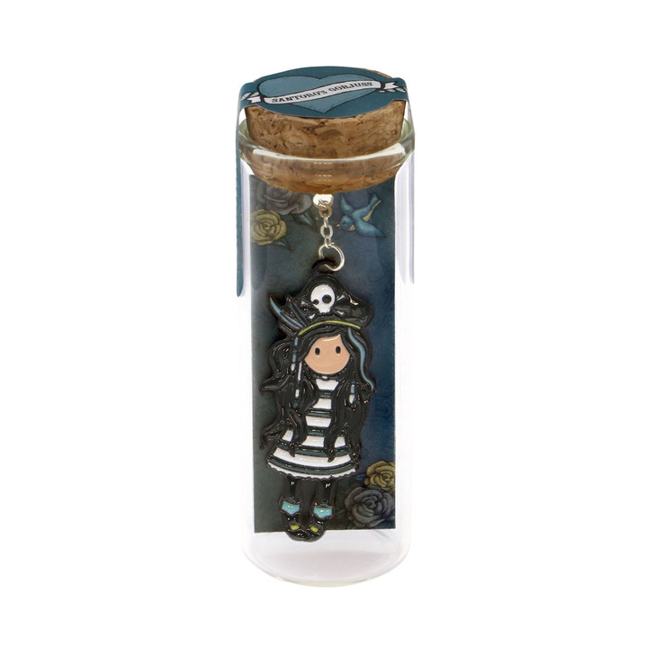 Gorjuss - Metal Bookmark in Glass Jar  - Black Pearl:90