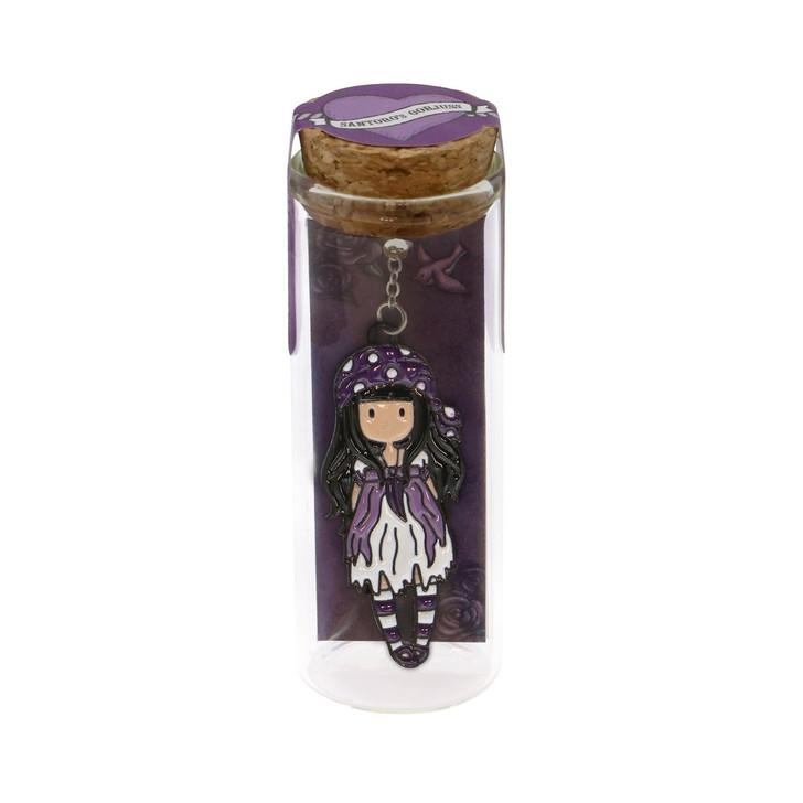 Gorjuss - Metal Bookmark in Glass Jar  - Sea Nixie:94