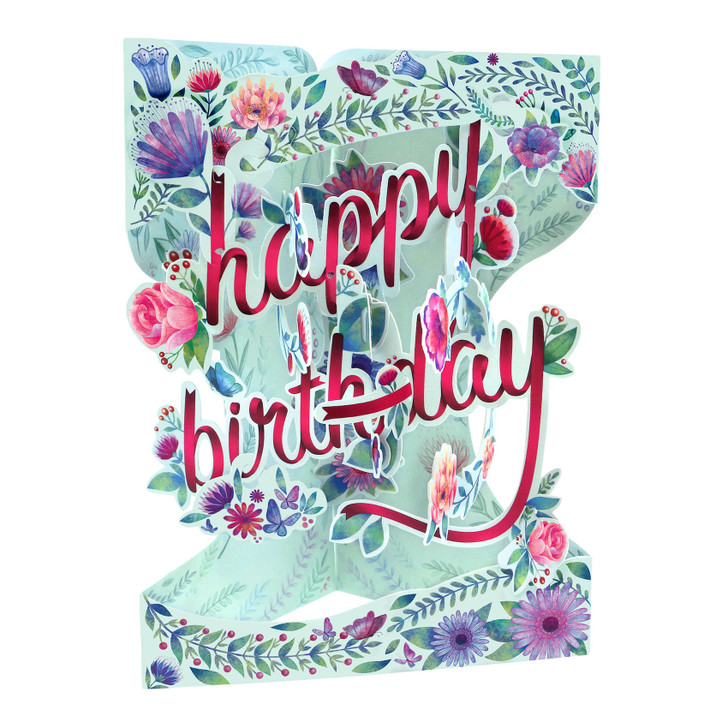 Swing Cards - Happy Birthday - Floral