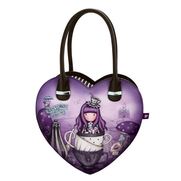 Gorjuss - Heart Shaped Handbag - A Little More Tea:4446