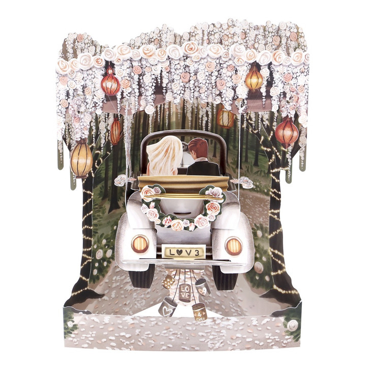 3D Pop-Up Card – Love Forever Swing Card – Luxury Wedding and Anniversary Card for Him, Her, Couple, Someone Special