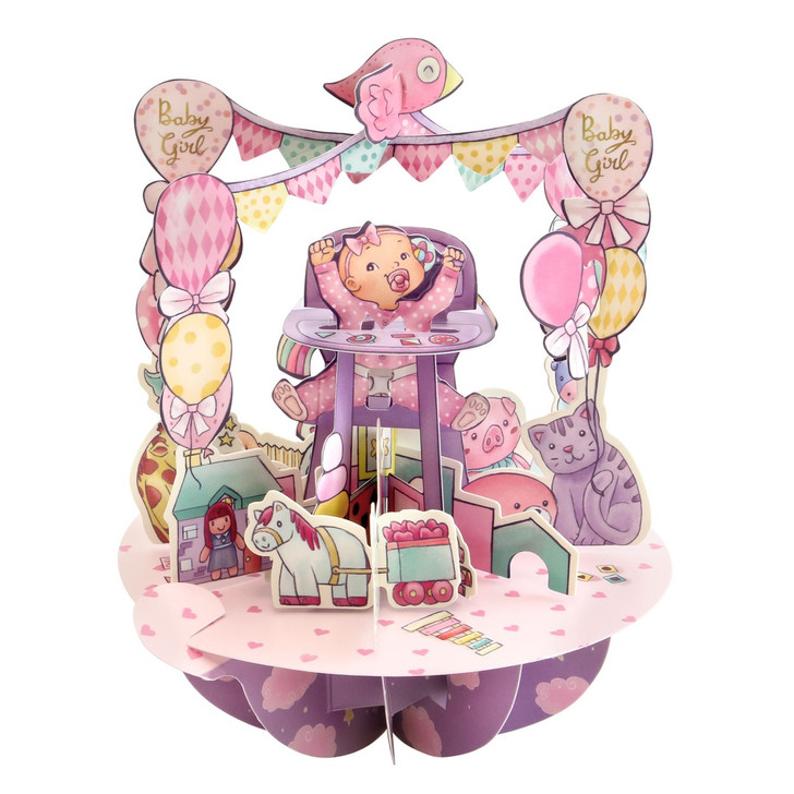Pirouettes Card - Baby Girl:4586