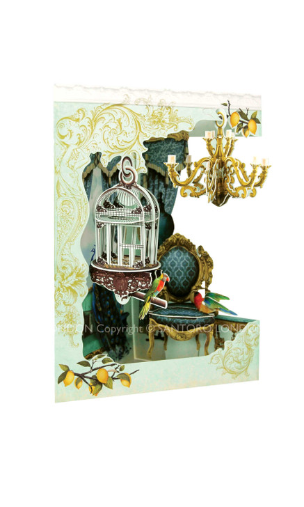 Swing Cards - Chandelier And Bird Cage
