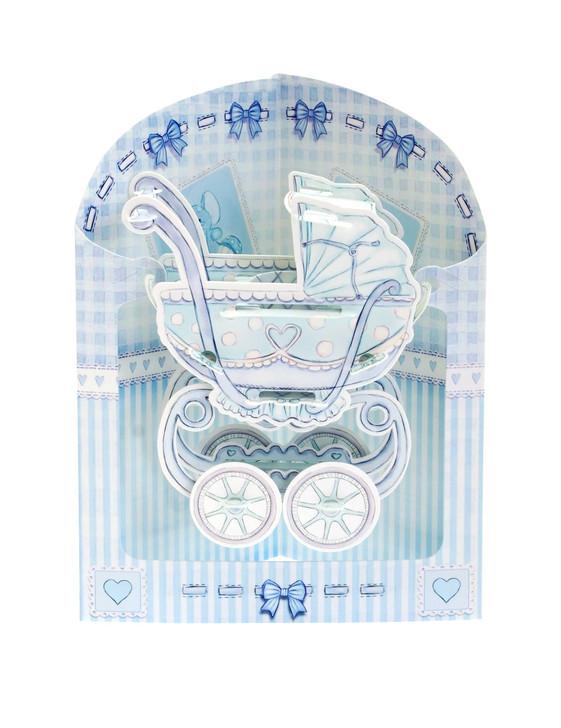 Swing Cards - Baby Boy Pram