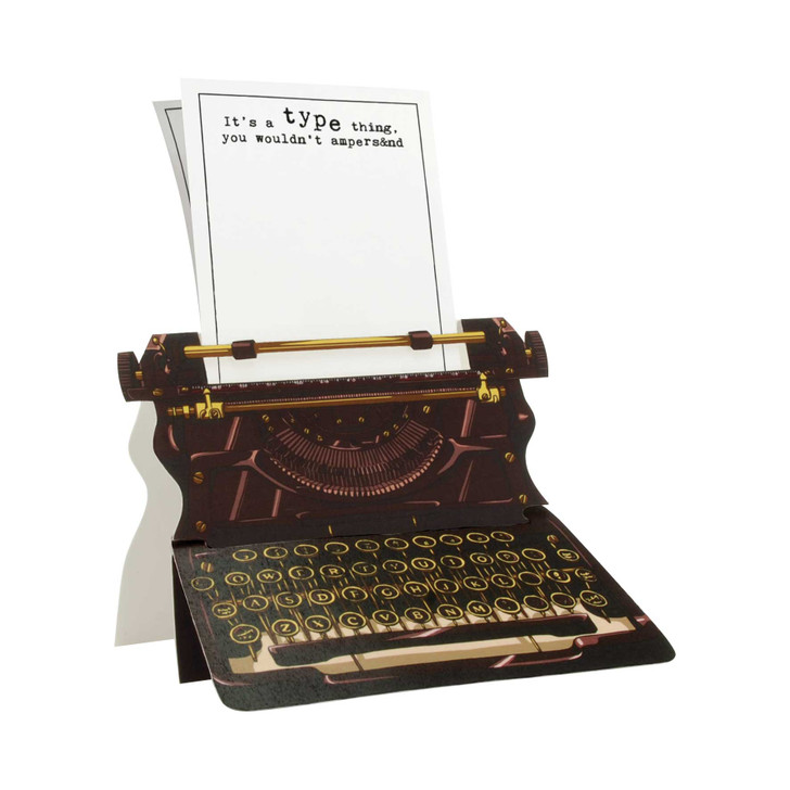 Typewriter Card - it's a type thing