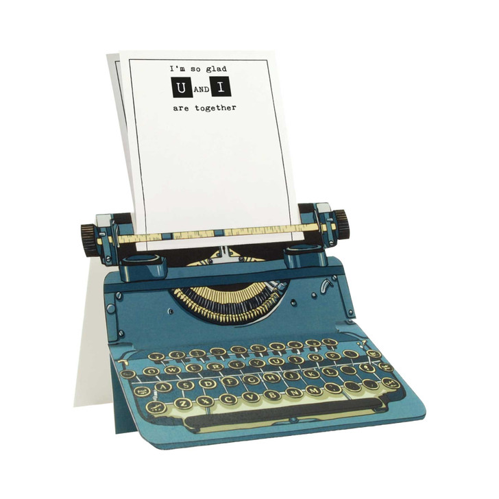 Typewriter Card - u and i are together