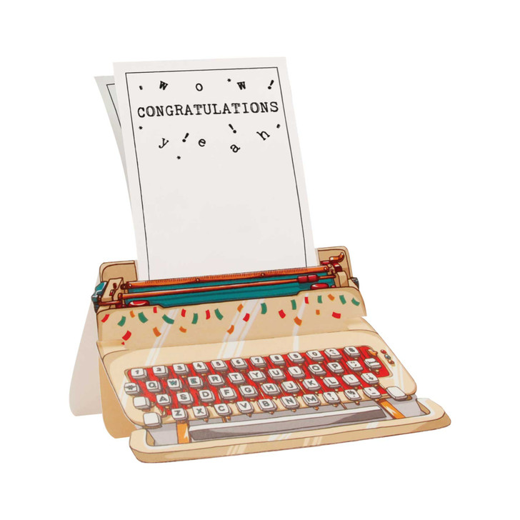 Typewriter Card - Congratulations!