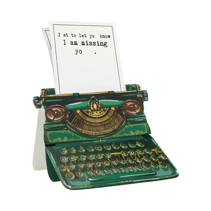 Typewriter Card - I am missing yo