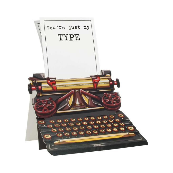 Typewriter Card - You're just my type