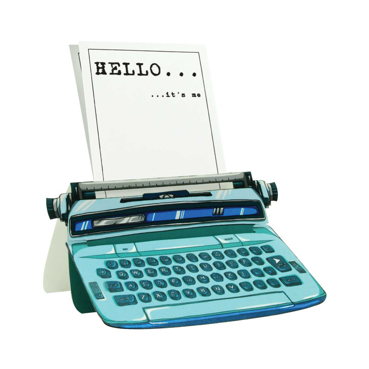 Typewriter Card - Hello... It's Me