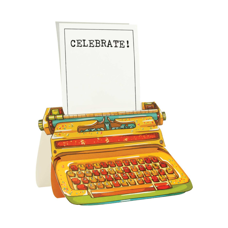 Typewriter Card - Celebrate