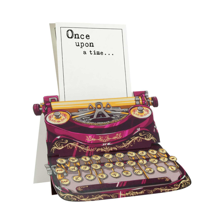Typewriter Card - Once upon a time