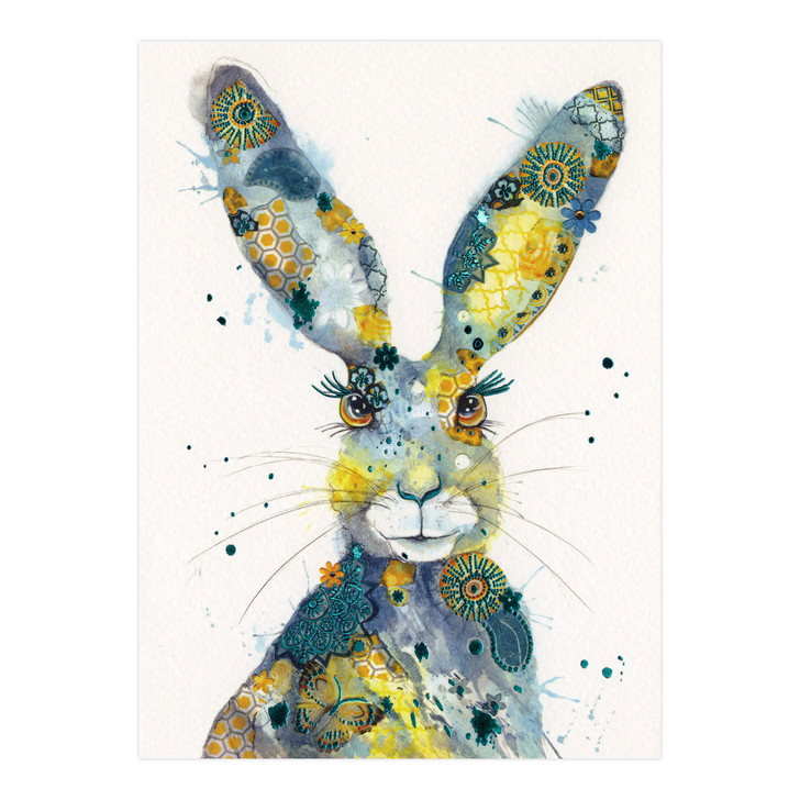 Eclectic Selection - Watercolour Hare